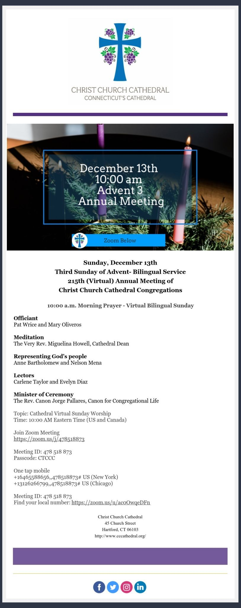 Reminder Ccc Annual Meeting This Sunday December 13 2020