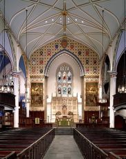 View Of The Chancel From The Center Aisle