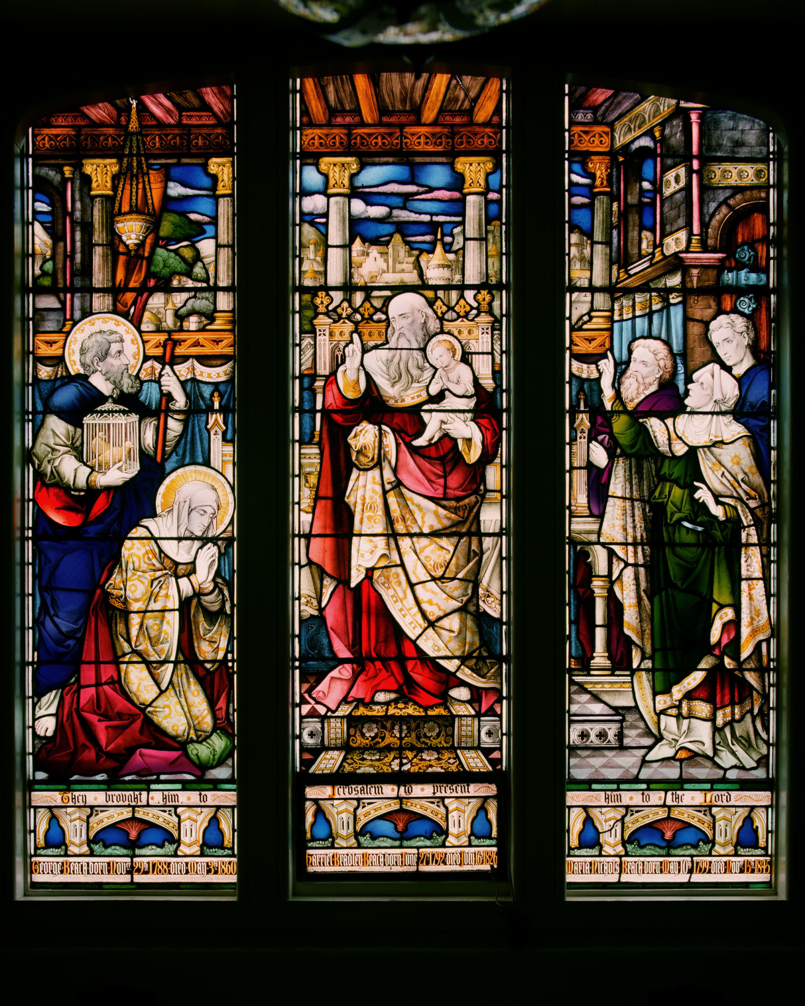 Stain Glass Window Sunday